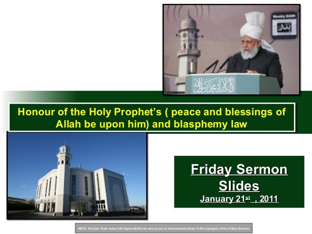 NOTE: Al Islam Team takes full responsibility for any errors or miscommunication in this Synopsis of the Friday Sermon Fri...