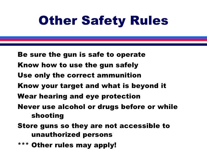 nra gun safety rules pdf