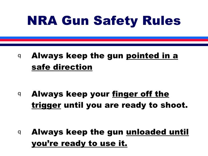 Image result for 4 gun safety rules