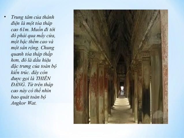 • Trung tâm của thánh  điện là một tòa tháp  cao 61m. Muốn đi tới  đó phải qua mấy cửa,  một bậc thềm cao và  một sân rộng...