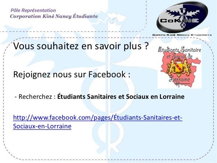 Vous souhaitez en savoir plus ?Rejoignez nous sur Facebook :- Recherchez : Étudiants Sanitaires et Sociaux en Lorrainehttp...