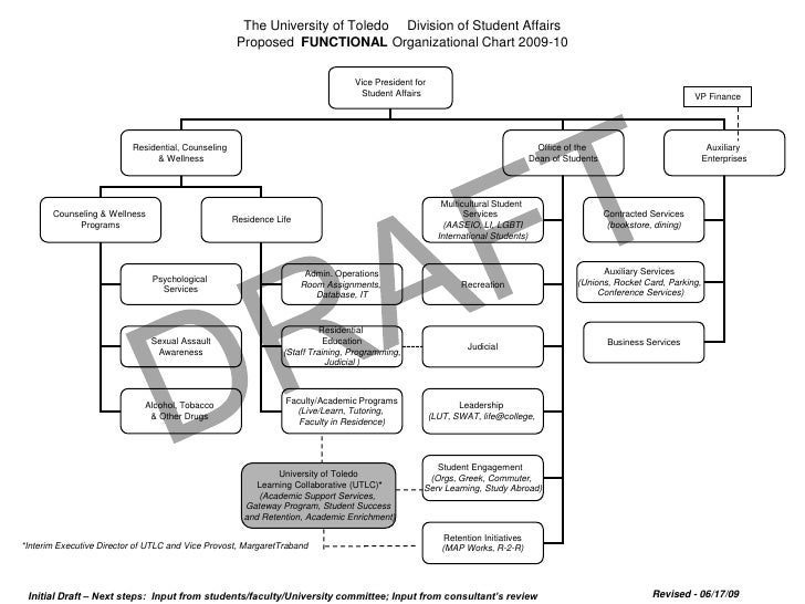 Proposed Functional Organizational Chart for 2009-2010