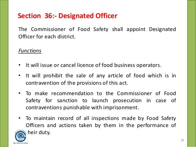 Food Safety Standard Act 2006