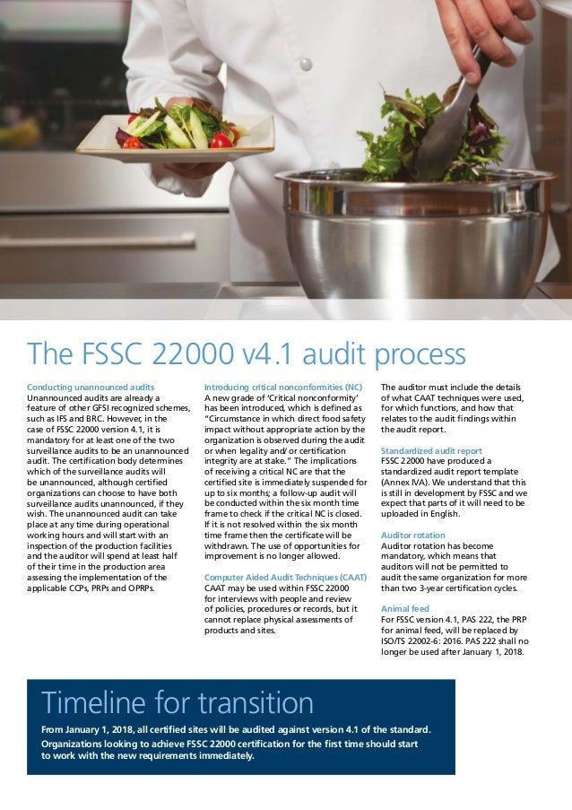 FSSC 22000 version 4 1 Overview