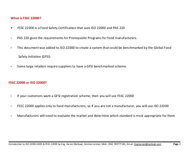 Fssc22000 vs ISO 22000