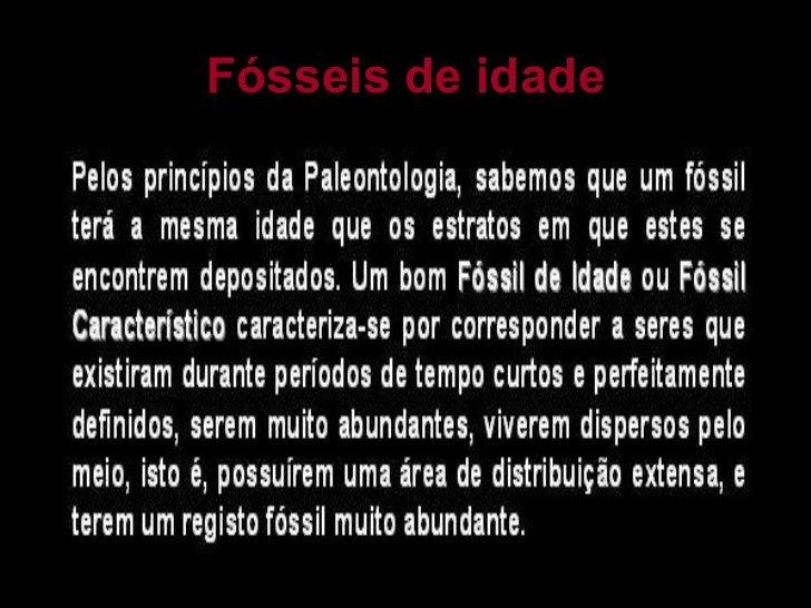 Fósseis de idade