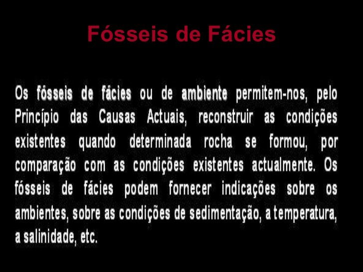 Fósseis de Fácies