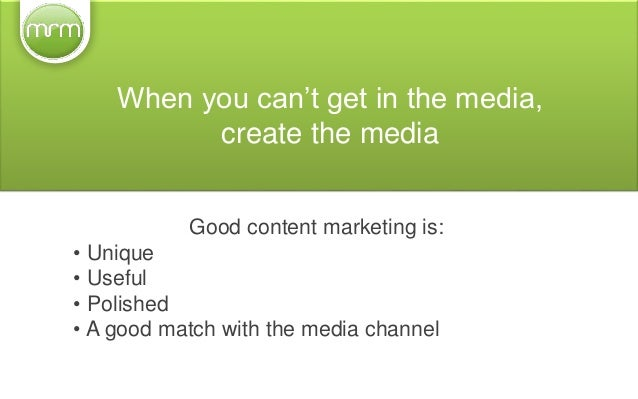 We'll help you... • Prepare your content 'to go' • Think in 'bite sizes'