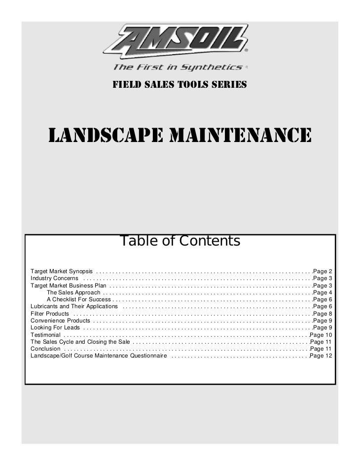 landscape maintenance amsoil