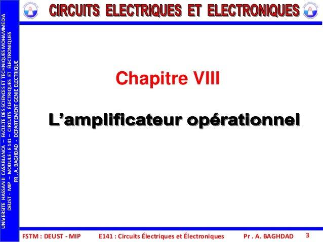 Fstm deust mip-e141_cee_chap_viii_l'amplificateur opérationnel Slide 3