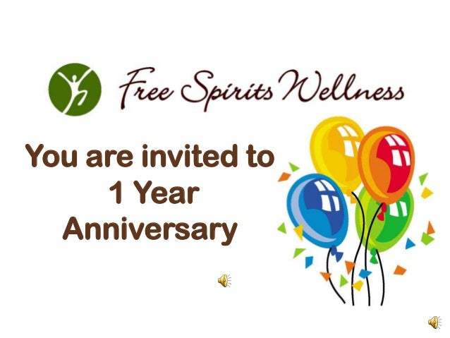 You are invited to     1 Year  Anniversary