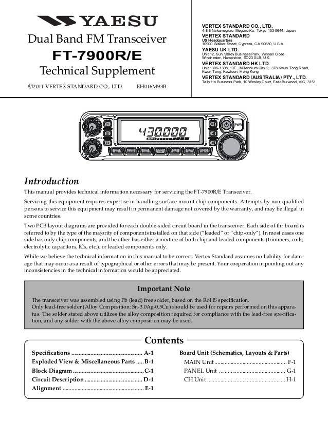 yaesu ft 7900r service manual rh slideshare net yaesu usa manuals ft757gx Yaesu America
