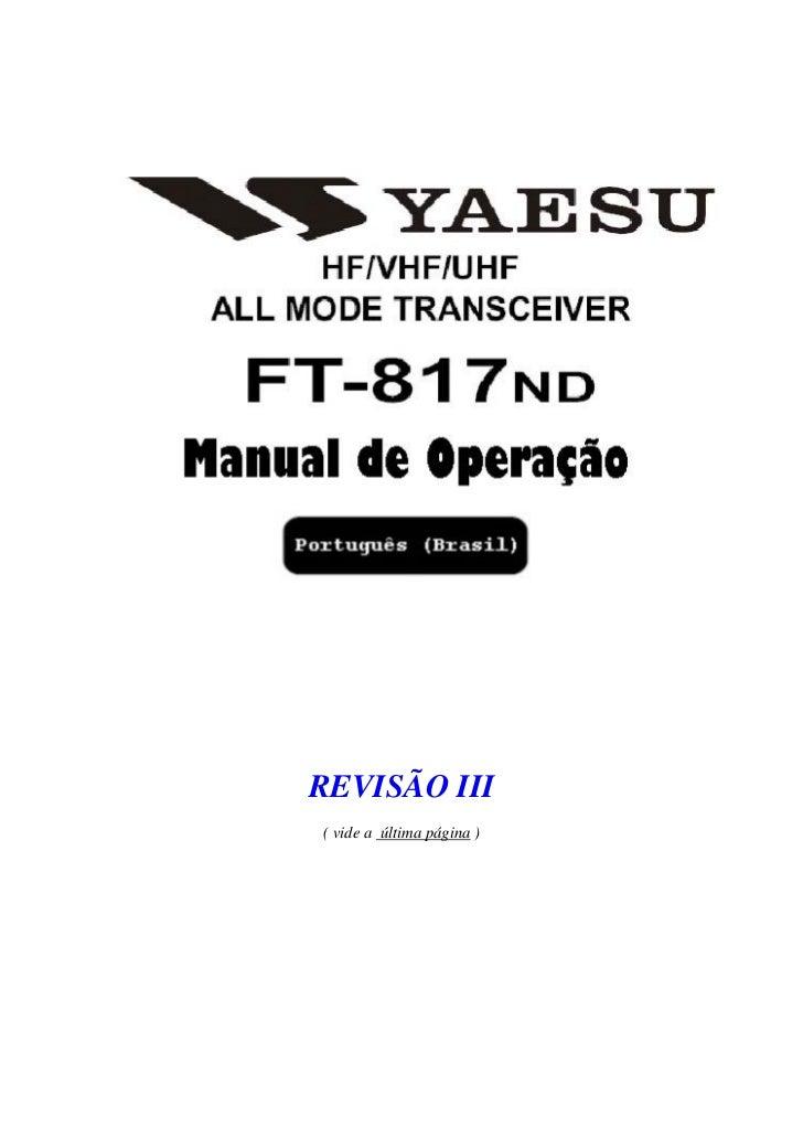 REVISÃO III( vide a última página )