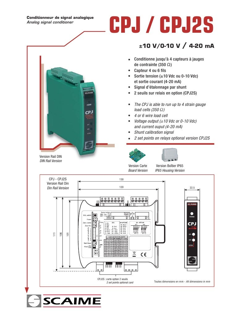 Conditionneur de signal analogiqueAnalog signal conditioner                                               CPJ / CPJ2S     ...