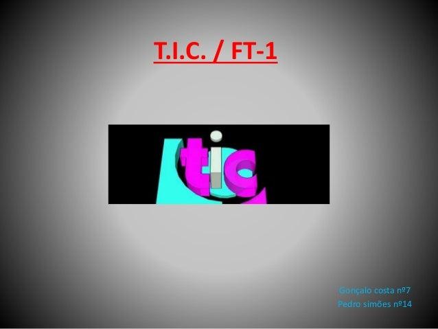 T.I.C. / FT-1 Gonçalo costa nº7 Pedro simões nº14