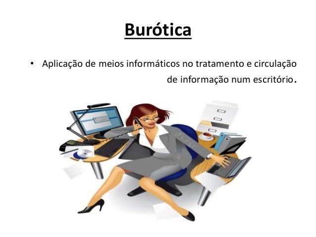 Burótica • Aplicação de meios informáticos no tratamento e circulação de informação num escritório.