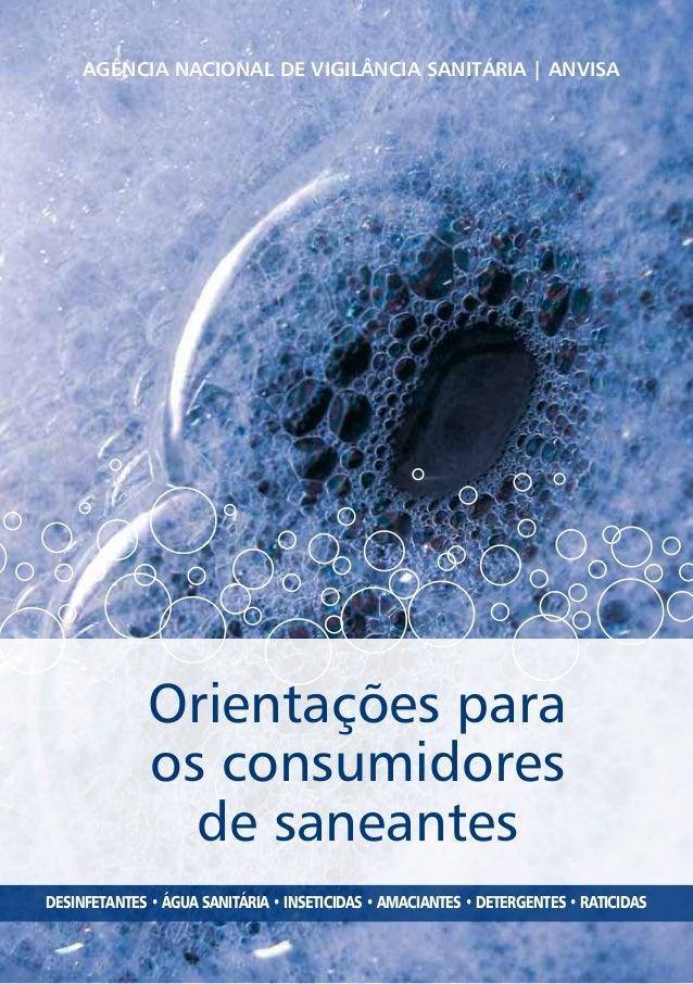 Orientações aos consumidores de produtos de limpeza