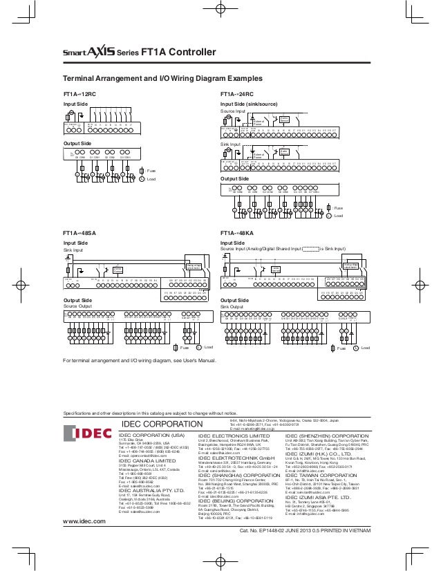 ft1 a idec 25 638?cb=1490080221 ft1 a idec idec relay wiring diagram at highcare.asia