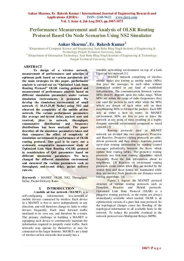 Ankur Sharma, Er. Rakesh Kumar / International Journal of Engineering Research and Applications (IJERA) ISSN: 2248-9622 ww...