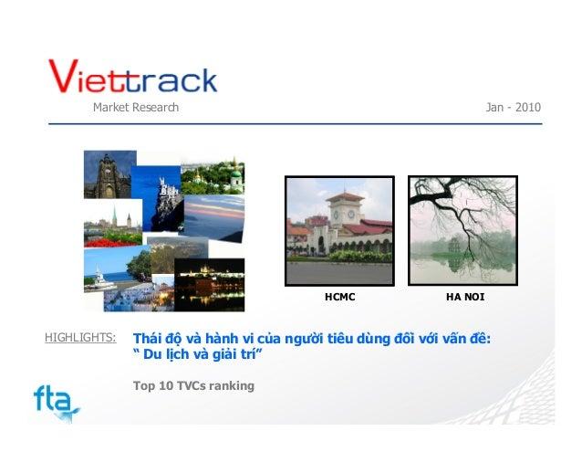 Thái độ và hành vi của người tiêu dùng đối với vấn đề du lịch và giải trí 1/2010 Slide 2