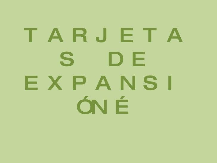 TARJETAS DE EXPANSIÓN…