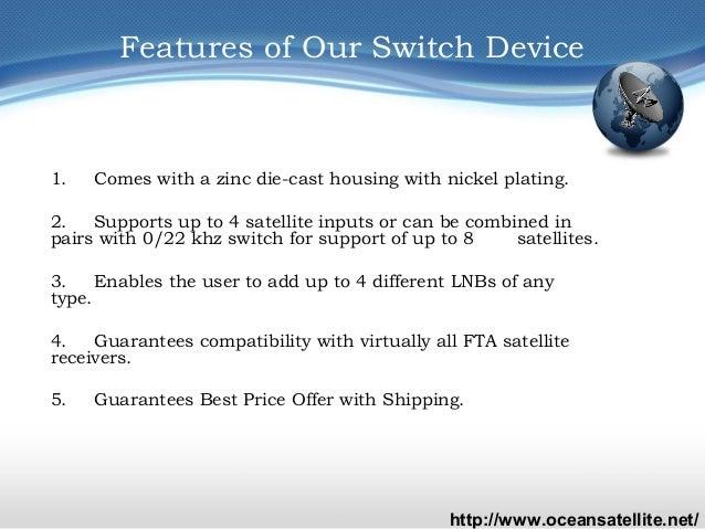 SR-5000 FTA Satellite Receiver and Supermax 4x1 DiSEqC Switch