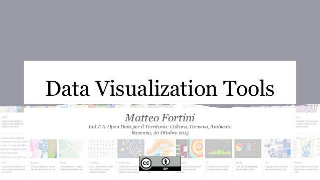 Data Visualization Tools Matteo Fortini Cul.T.A. Open Data per il Territorio: Cultura, Turismo, Ambiente Ravenna, 20 Ottob...