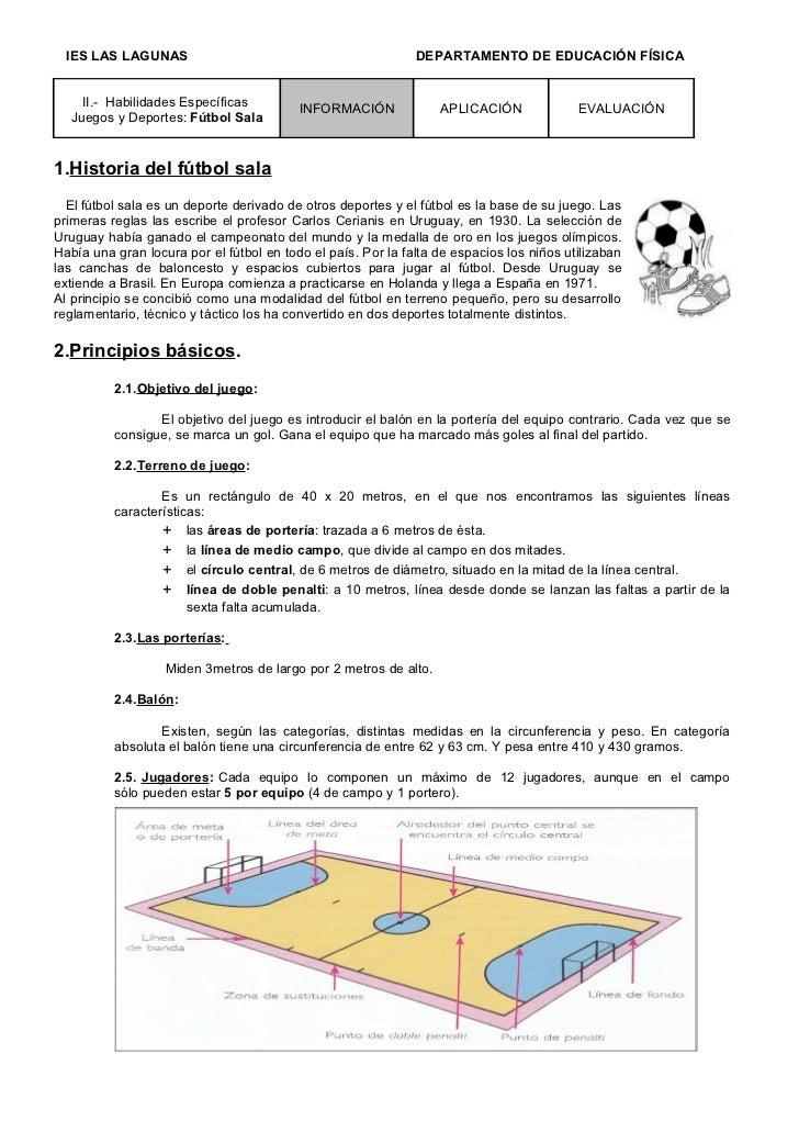 bced57d74d974 Fútbol sala 1º eso. IES LAS LAGUNAS DEPARTAMENTO DE EDUCACIÓN ...
