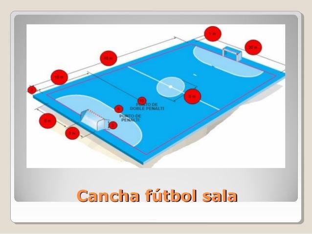 F tbol sala trones for Pista de futbol sala medidas