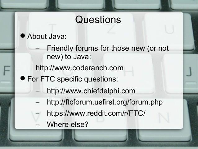 FTC Robot C to Java