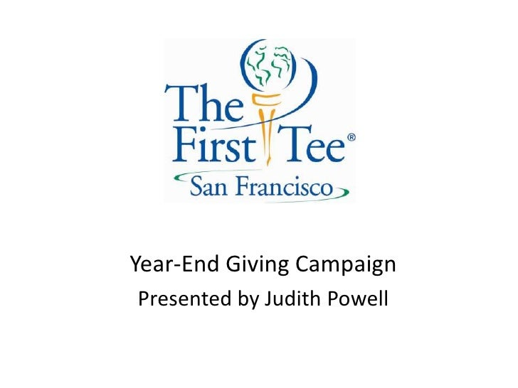 Year-End Giving Campaign<br />Presented by Judith Powell<br />