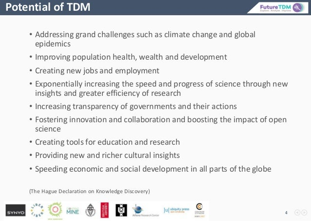 • Addressing grand challenges such as climate change and global epidemics • Improving population health, wealth and develo...