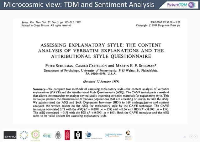 Microcosmic view: TDM and Sentiment Analysis 7