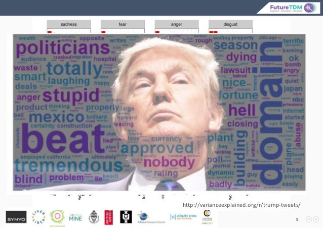 9 http://varianceexplained.org/r/trump-tweets/