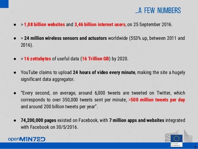 ● > 1,08 billion websites and 3,46 billion internet users, on 25 September 2016. ● > 24 million wireless sensors and actua...