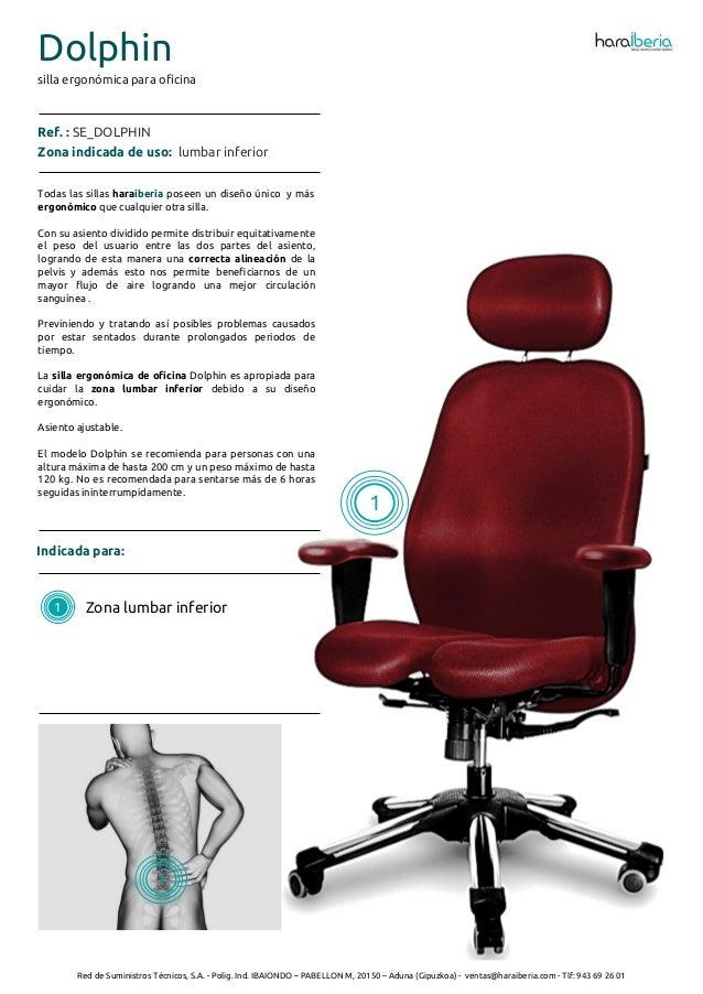 Ficha t cnica de la silla ergon mica para oficina dolphin for Sillas de oficina ergonomicas