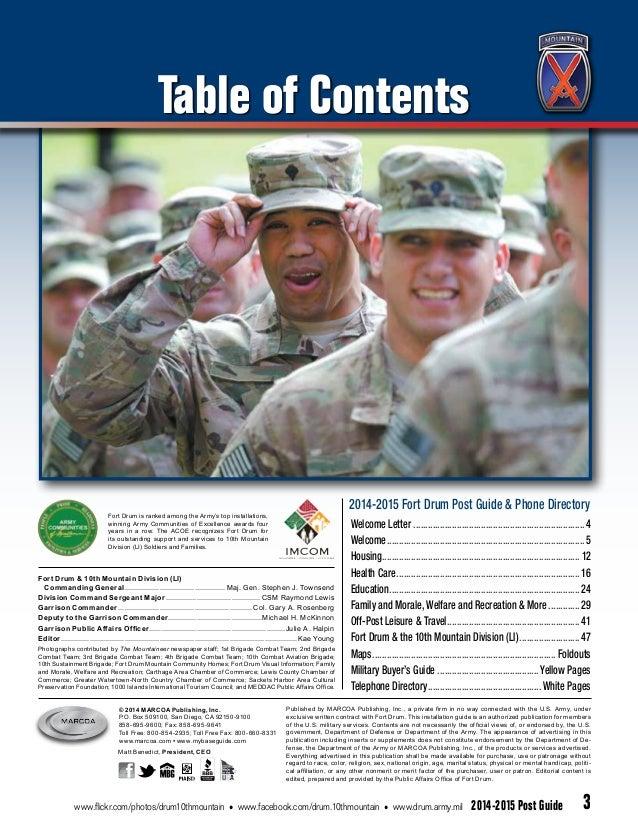 Fort Drum Blue Book 2015