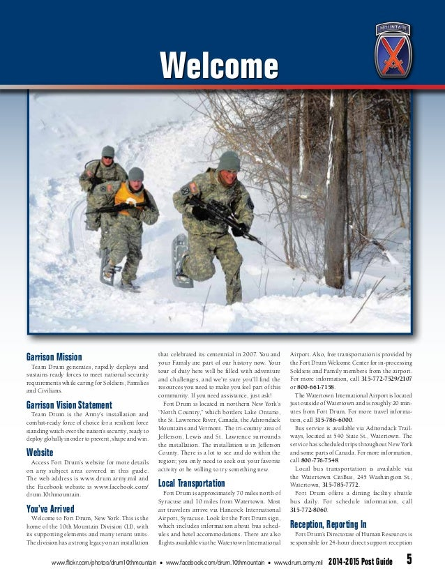 Fort Drum Website >> Fort Drum Post Guide