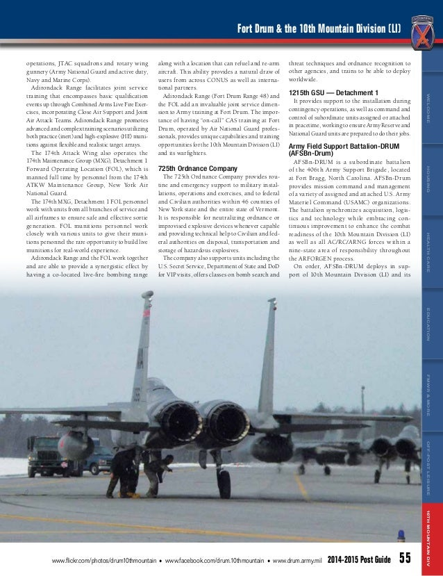 Fort Drum Post Guide