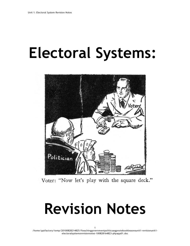 Elections Notes