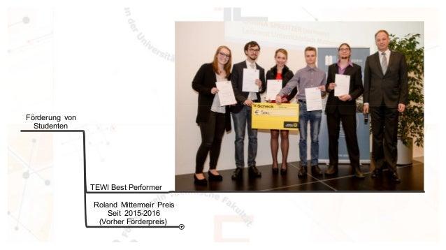 F�rderung von Studenten TEWI Best Performer Roland Mittermeir Preis Seit 2015-2016 (Vorher F�rderpreis)