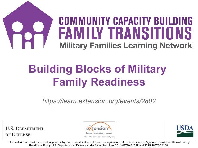 Building Blocks of Military Family Readiness https://learn.extension.org/events/2802