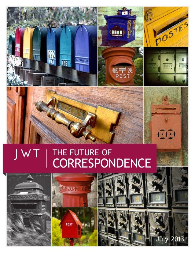 July 2013 CORRESPONDENCE THE FUTURE OF