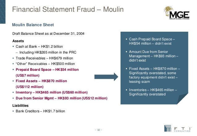 financial statement frauds Financial statement: the statement itself is actually a collection of reports that provide a picture of an organization's cash flows and financial condition the reports typically included in a financial statement are the balance sheet , income statement and the statement of cash flows.