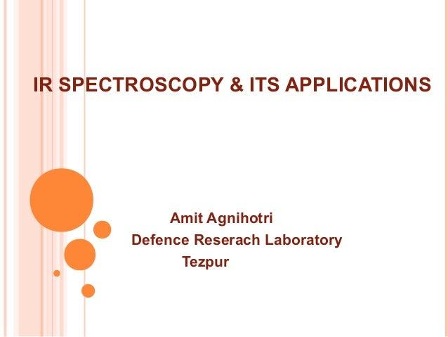 I R Spectroscopy Its Application