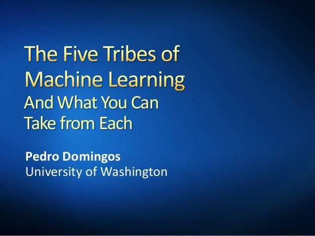 And What You Can Take from Each Pedro Domingos University of Washington