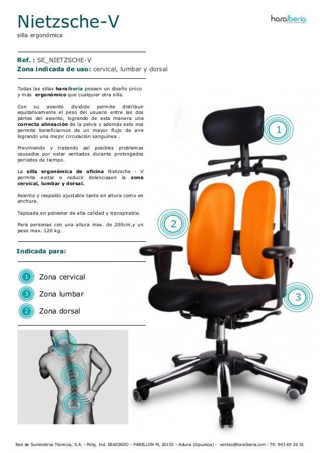 Ficha t cnica de la silla ergon mica para oficina nietzsche v for Tecnica de oficina wikipedia