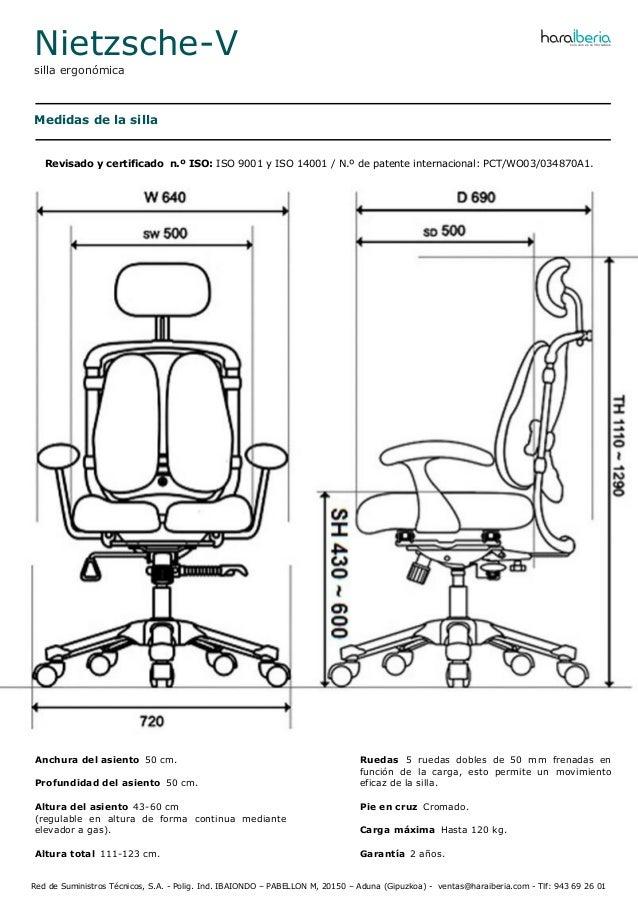 Ficha Tecnica De La Silla Ergonomica Para Oficina Nietzsche V