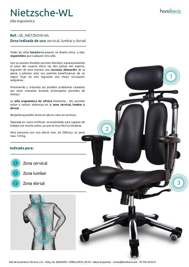 Ficha t cnica de la silla ergon mica para oficina nietzsche wl for Tecnica de oficina wikipedia