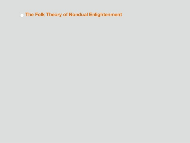The Folk Theory of Nondual Enlightenment